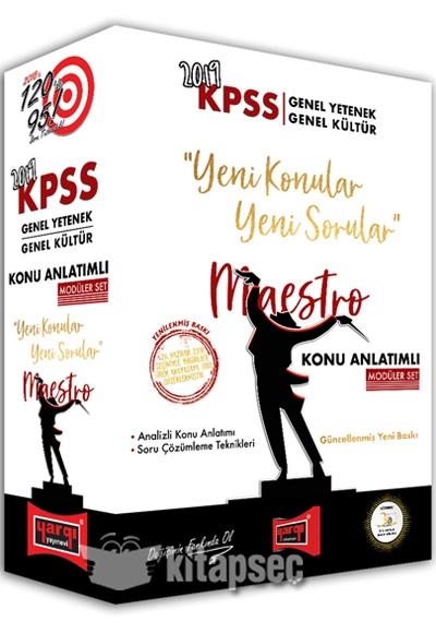 2019 Kpss Genel Yetenek Genel Kültür Maestro Konu Anlatımlı Modüler