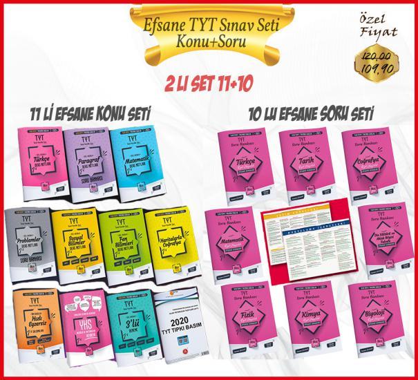 2021 TYT 11 Li Efsane Altın Set - Altın Seri Yayınları - Arma Hediyeli